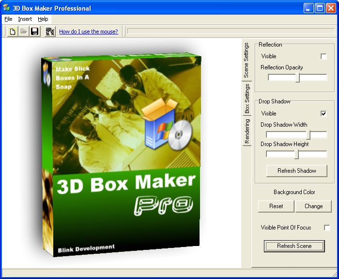 Sreenshot 3d box maker professional 2 0 3d box maker for 3d design software free online