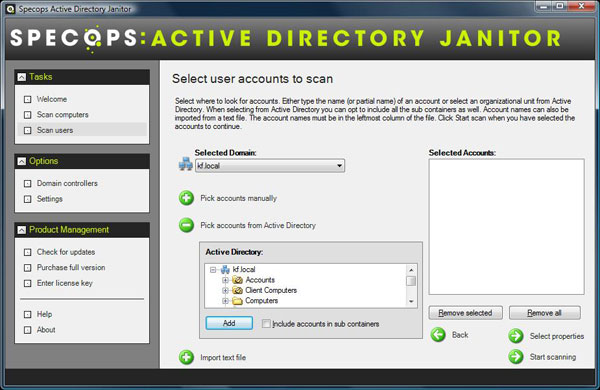 Active Directory Janitor Screenshot