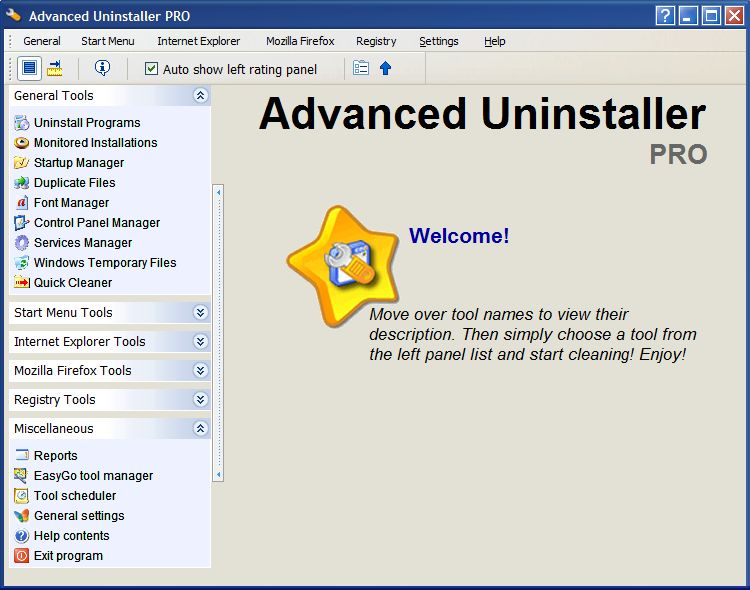Advanced Uninstaller PRO 2006 Screenshot