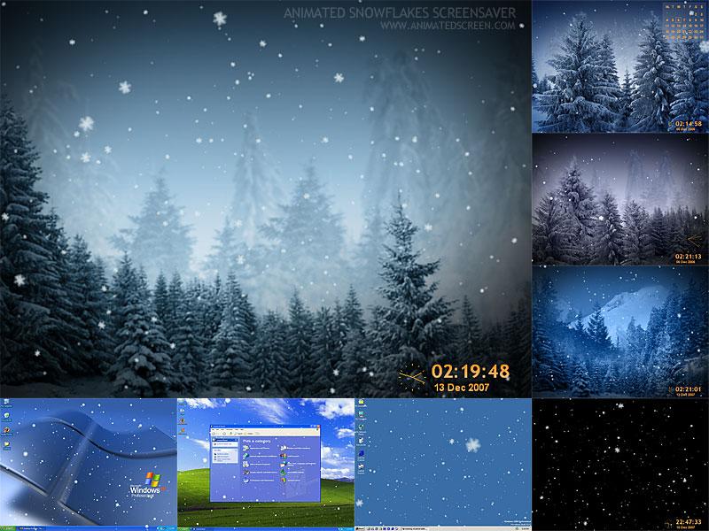 This snowflakes screen saver