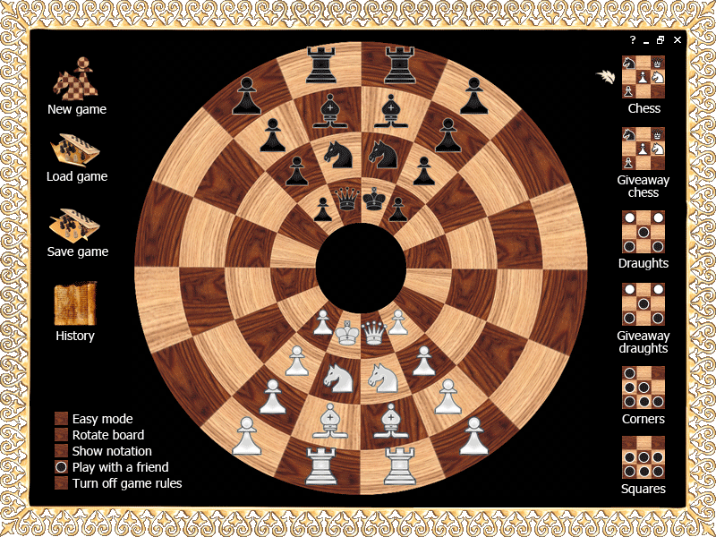 Byzantine circular chess screenshot