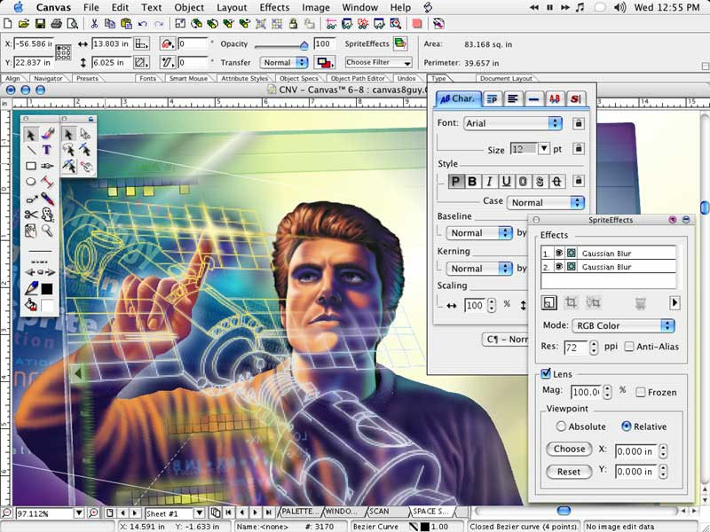 Sreenshot Canvas Professional Edition 9 0 4 Cad Software Graphics Software Vector