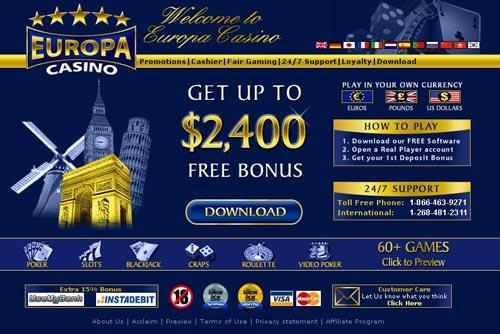 Casino europa 2006 john gambling wor