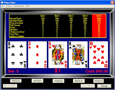 free casino style video poker