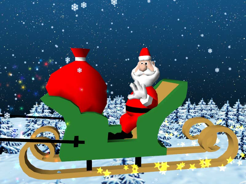 Sreenshot christmas santa claus 3d screensaver 1 0 christmas