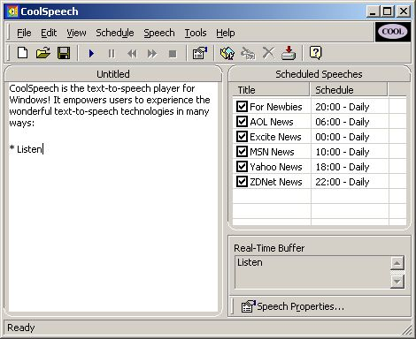 CoolSpeech Screenshot