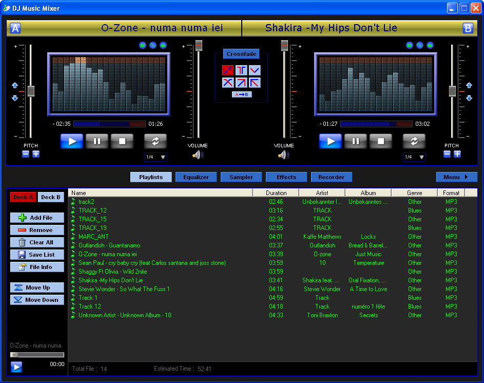 Dj music mixer is a full featured dj and beat mixing system to create