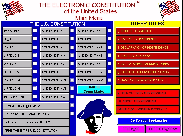 Electronic Constitution Screenshot