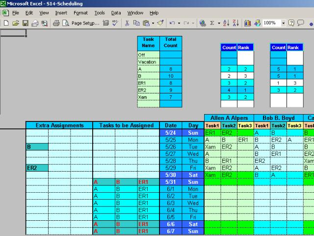 Employee Task Scheduling for One Year Screenshot