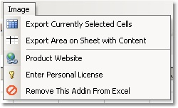 Excel Export To Image (GIF) Software Screenshot
