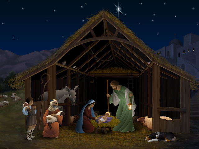jesus in the manger animation.