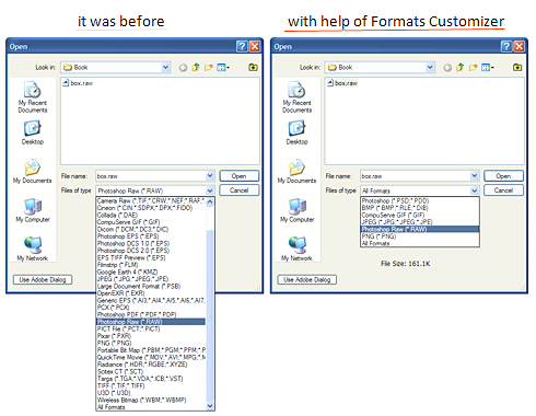 Formats Customizer Screenshot