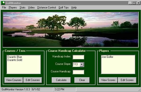 GolfMonitor Screenshot