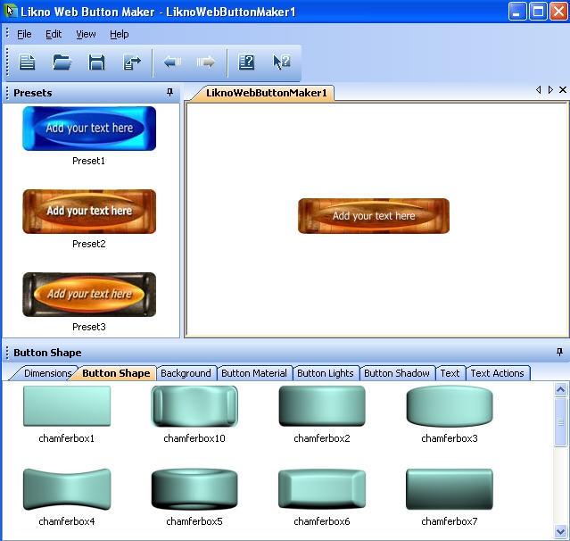 Sreenshot Likno Web Button Maker 2.0.124