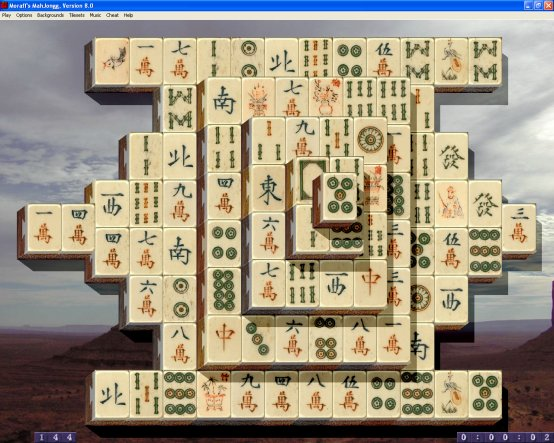 Moraff's MahJongg Screenshot
