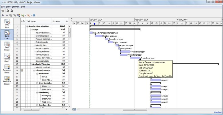 MS Project Viewer