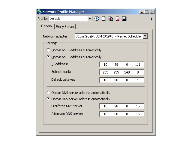 Network Profile Manager Screenshot