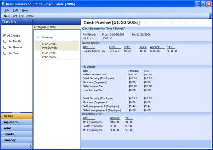 Payroll Mate-Payroll Software Screenshot