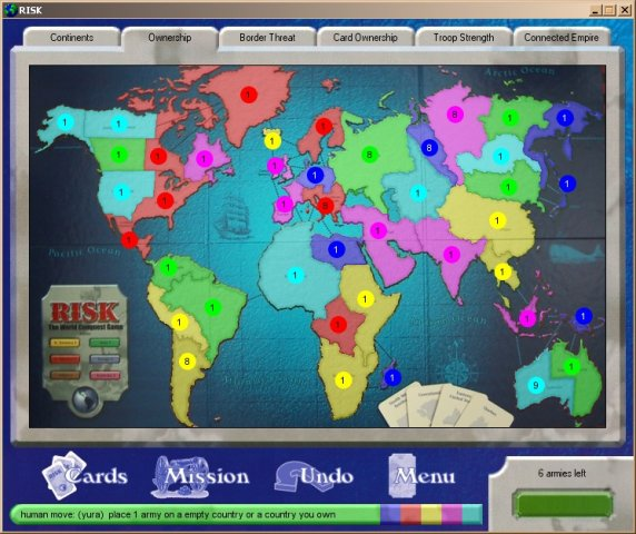Risk - Classic Risk Board Game Clone Screenshot