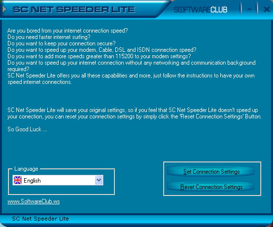 SC Free Net Speeder Lite Screenshot