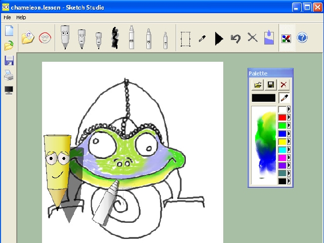 Sreenshot sketch studio 2 0 children art drawing Easy drawing software