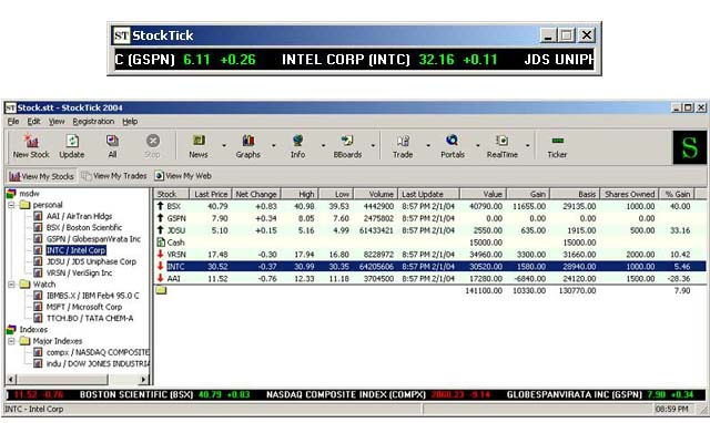 forex desktop stock ticker: