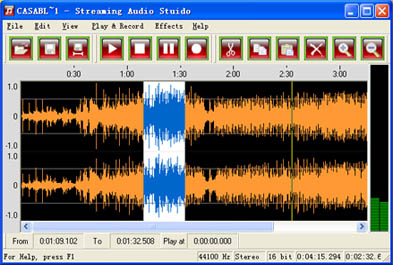 Streaming Audio Studio Screenshot