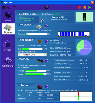 SyvirMon FREE System Monitor Screenshot