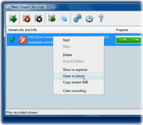 Streaming movie recorder