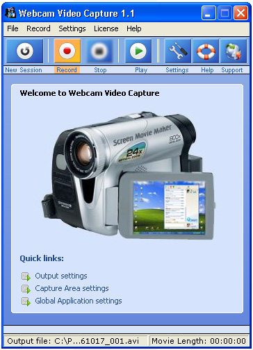 Webcam Video Capture Screenshot