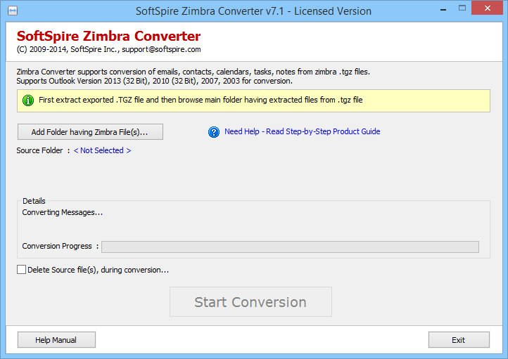 Zimbra Desktop to Outlook Screenshot